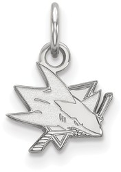 10K White Gold NHL San Jose Sharks X-Small Pendant by LogoArt