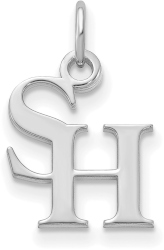 10K White Gold Sam Houston State University X-Small Pendant by LogoArt