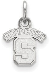 10K White Gold Syracuse University X-Small Pendant by LogoArt (1W001SYU)