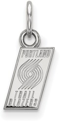 10K White Gold NBA Portland Trail Blazers X-Small Pendant by LogoArt
