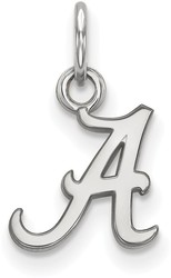 10K White Gold University of Alabama X-Small Pendant by LogoArt (1W001UAL)