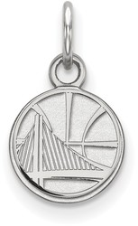 10K White Gold NBA Golden State Warriors X-Small Pendant by LogoArt