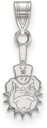 10K White Gold The Citadel Small Pendant by LogoArt (1W002TCI)