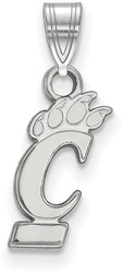 10K White Gold University of Cincinnati Small Pendant by LogoArt