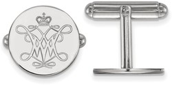 Sterling Silver William & Mary Cuff Links by LogoArt