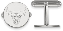 Sterling Silver NBA Chicago Bulls Cuff Links by LogoArt