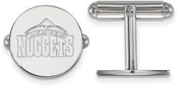 Sterling Silver NBA Denver Nuggets Cuff Links by LogoArt