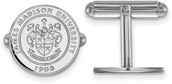 Sterling Silver James Madison University Crest Cuff Links by LogoArt