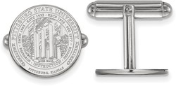 Sterling Silver Pittsburg State University Crest Cuff Links by LogoArt