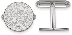 Sterling Silver University of South Florida Crest Cuff Links by LogoArt