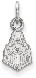 10K White Gold Purdue X-Small Pendant by LogoArt (1W036PU)