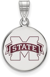Sterling Silver Mississippi State University X-Small Pendant by LogoArt SS001MSS