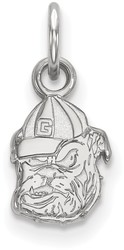 10K White Gold University of Georgia X-Small Pendant by LogoArt (1W043UGA)