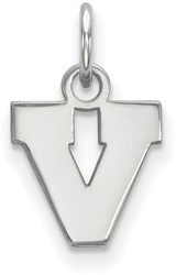 10K White Gold University of Virginia X-Small Pendant by LogoArt (1W043UVA)