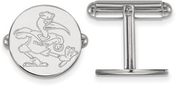 Sterling Silver University of Miami Cuff Links by LogoArt (SS053UMF)