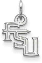 10K White Gold Florida State University X-Small Pendant by LogoArt (1W058FSU)
