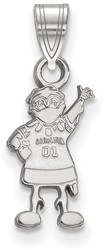 10K White Gold University of South Carolina Small Pendant by LogoArt (1W060USO)