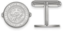 Sterling Silver Kansas State University Crest Cuff Links by LogoArt