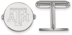 Sterling Silver Texas A&M University Cuff Links by LogoArt