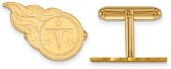 Gold Plated Sterling Silver LogoArt NFL Tennessee Titans Cufflinks