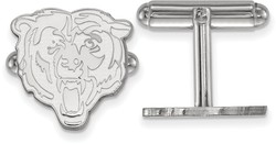 Sterling Silver LogoArt NFL Chicago Bears Cufflinks