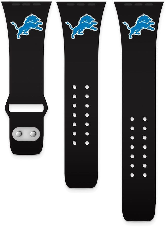 Gametime NFL Detroit Lions Silicon Band fits Apple Watch (38/40mm Black)
