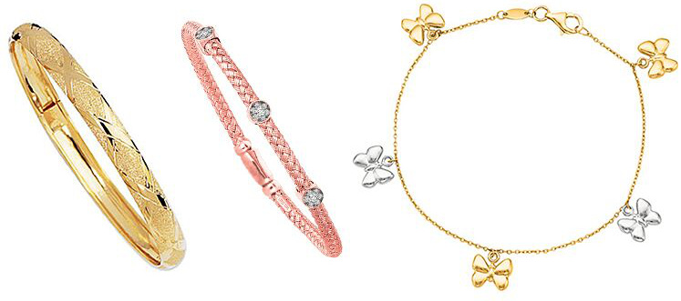Gold and Diamond Bracelets