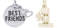 Friends and Family Engravable Rembrandt Charms