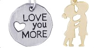 Heart and Love Engravable Rembrandt Charms