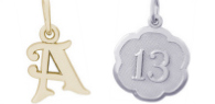 Letters and Numbers Engravable Rembrandt Charms