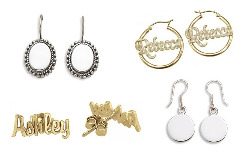 Engravable and Personalized Earrings