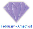 Amethyst birthstone jewelry at BillyTheTree Jewelry