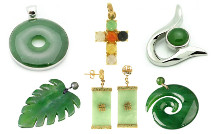 Genuine nephrite and jadeite jade jewelry