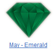 Emerald birthstone jewelry at BillyTheTree Jewelry