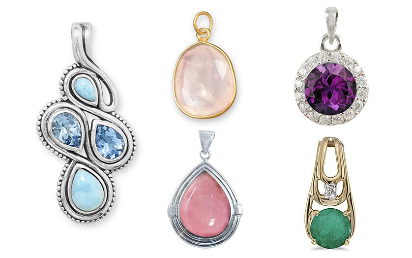 Gemstone Sterling Silver Pendants