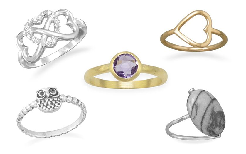 Sterling Silver Rings Under $25