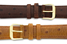 Ostrich Style Leather Watch Bands