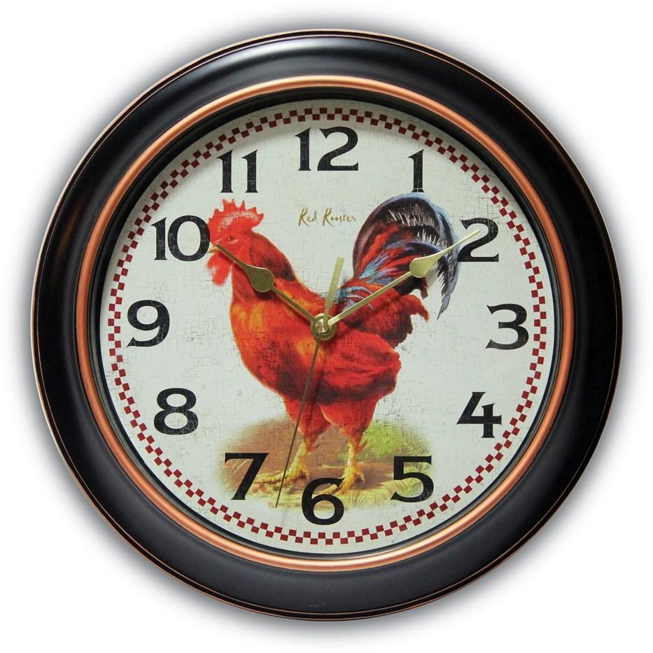 Rotterdam Rooster Dial Wall Clock w/ Silent Movement