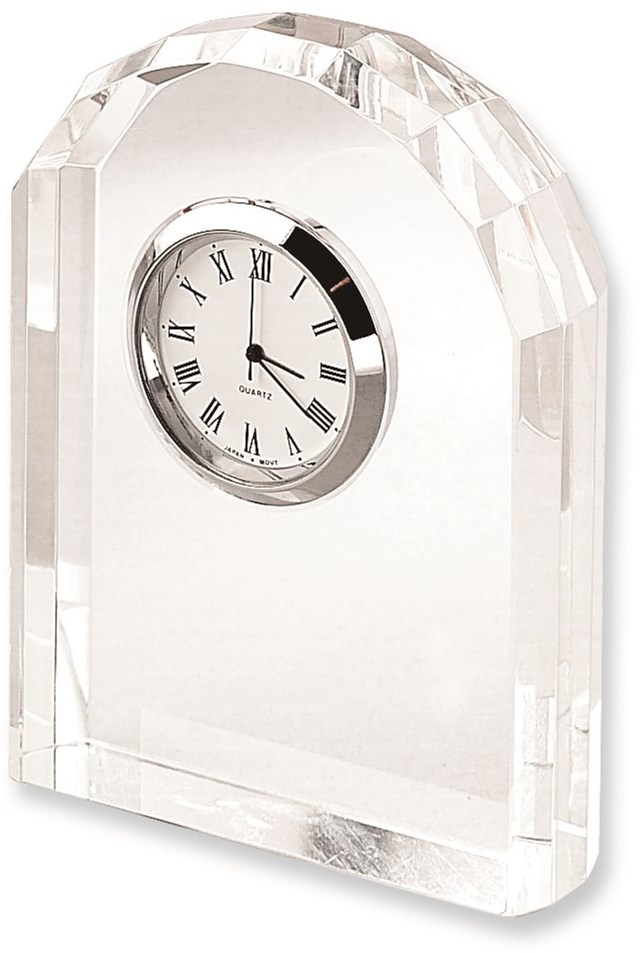 Optic Crystal Arch Clock