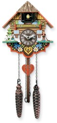 Musical Multi-Colored Quartz Cuckoo Clock Made in Germany