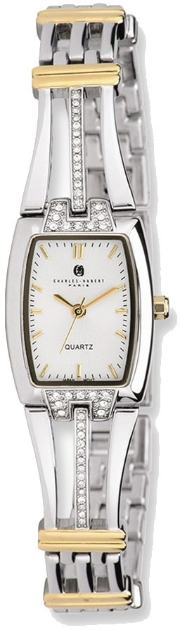 Charles Hubert 2-tone Silver Dial Quartz Watch