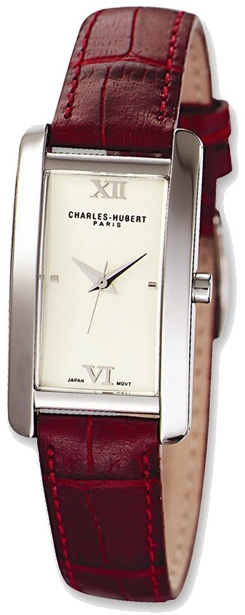 Ladies Charles Hubert Leather Band Dial Retro 21x30mm Watch