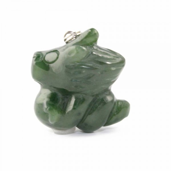 Genuine Natural Nephrite Jade Cartoon Charm: Dragon