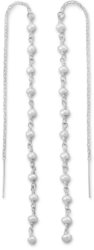 Cultured Freshwater Pearl Bead Threader Earrings 925 Sterling Silver