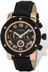 40951ad904739 Mens Chisel Rose IP-plated Black Dial Chronograph Watch