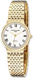 Mens Charles Hubert Gold Finish Brass 33mm Watch
