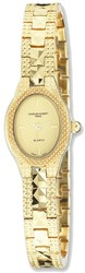 Ladies Charles Hubert Gold-finish Brass Gold Dial 18x22mm Watch