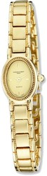 Ladies Charles Hubert Satin Gold-finish Brass 17x23mm Watch