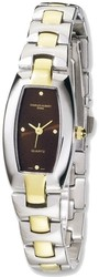 Ladies Charles Hubert IP-plated Stainless Steel Brown Dial 19x31mm Watch