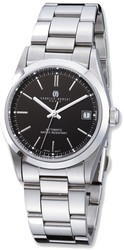 Mens Charles Hubert Stainless Black Dial Automatic Watch